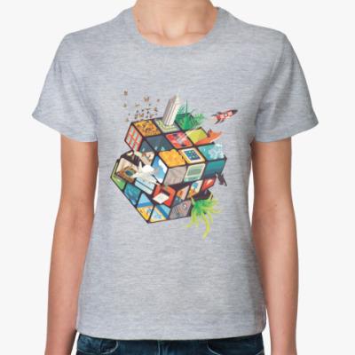 Женская футболка Кубик Рубика | Спидкубинг