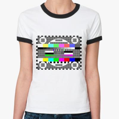 Женская футболка Ringer-T Пауза