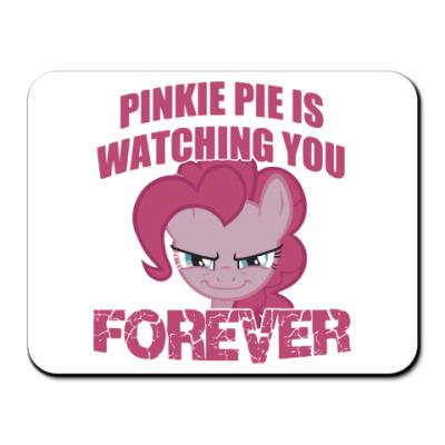 Коврик для мыши Пинки Пай наблюдает за тобой