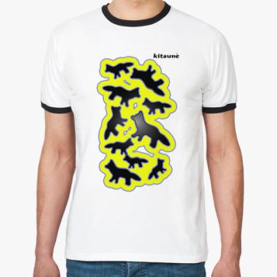 Футболка Ringer-T   KITSUNE