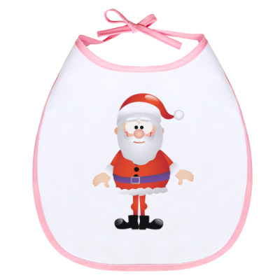 Слюнявчик Санта Клаус