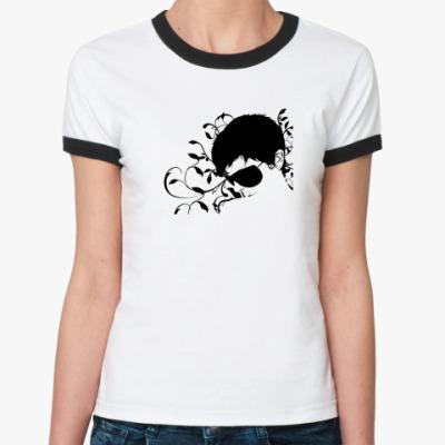 Женская футболка Ringer-T очки