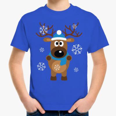 Детская футболка Новогодний олень