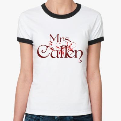 Женская футболка Ringer-T Mrs. Cullen