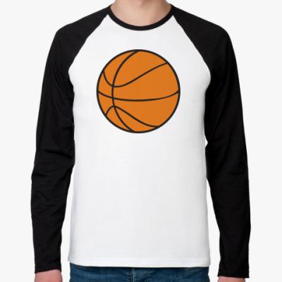 Футболка реглан с длинным рукавом Баскетбол