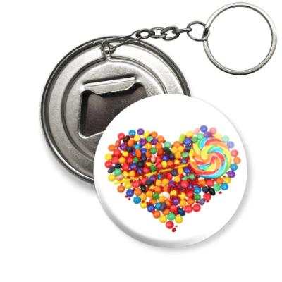 Брелок-открывашка I love you - Любовь в сердце