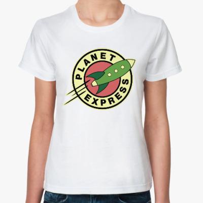 Классическая футболка Межпланетный экспресс (Футурама)