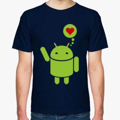Футболка Love Android