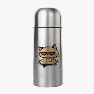 Термос Недовольный кот ( Grumpy cat )