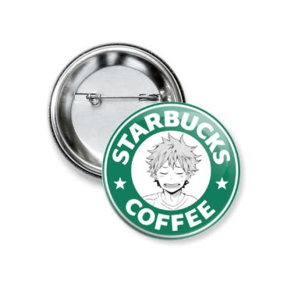 Значок 37мм Haikyuu!! Волейбол!! Хината Starbucks