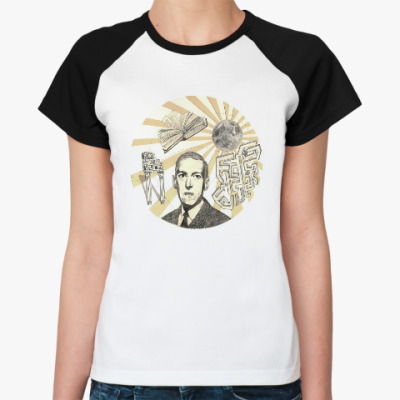Женская футболка реглан Говард Филлипс Лавкрафт