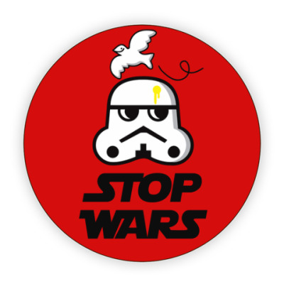 Костер (подставка под кружку) Stop Wars Stormtrooper