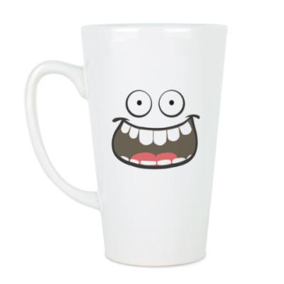 Чашка Латте Улыбнись. Go smile.