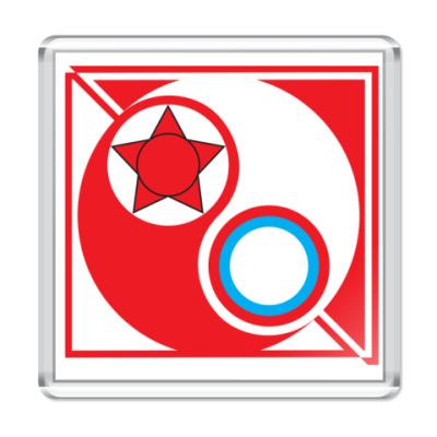 Магнит Красные vs Белые 6,5x6,5см