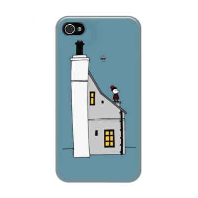 Чехол для iPhone 4/4s Корнуольский домик