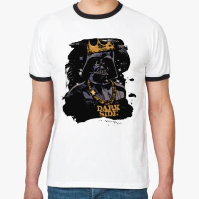Футболка Ringer-T Darth Vader . Dark Side