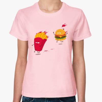 Женская футболка Фаст-фуд
