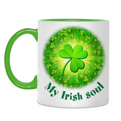 Кружка 'My Irish soul'