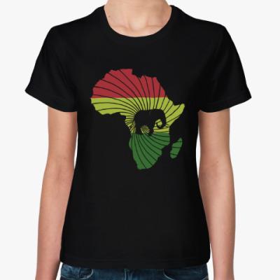 Женская футболка Африканский слон