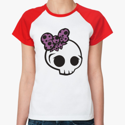 Женская футболка реглан Черепки