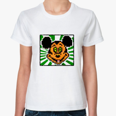 Классическая футболка Микки Любит Грибочки