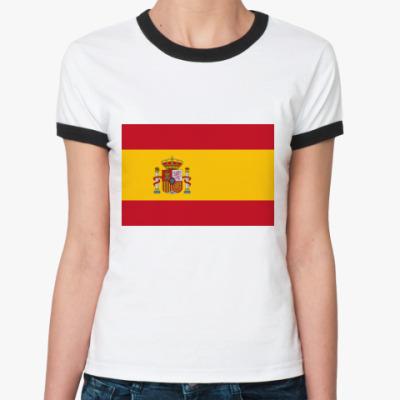 Женская футболка Ringer-T  Испания