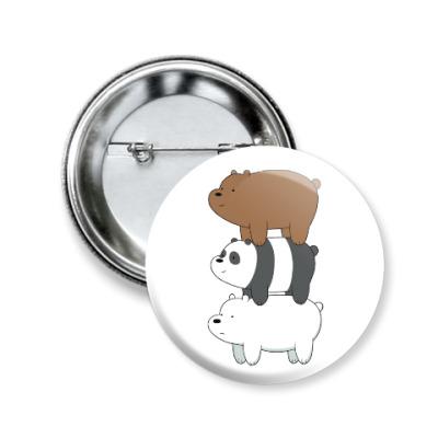 Значок 50мм Вся правда о медведях