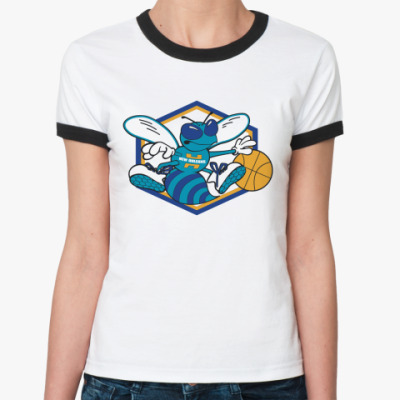 Женская футболка Ringer-T  New Orleans Hornets