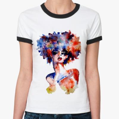 Женская футболка Ringer-T Акварель