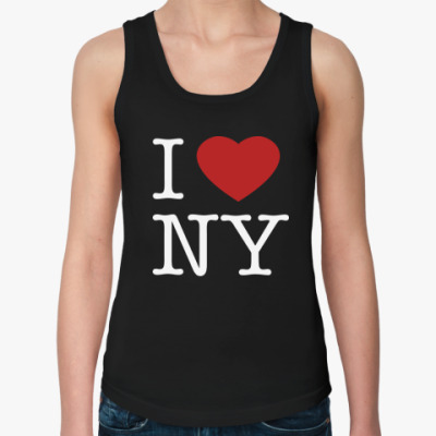 Женская майка I Love NY