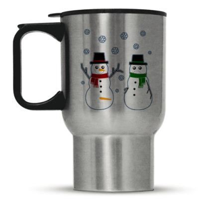 Кружка-термос Happy Snowman