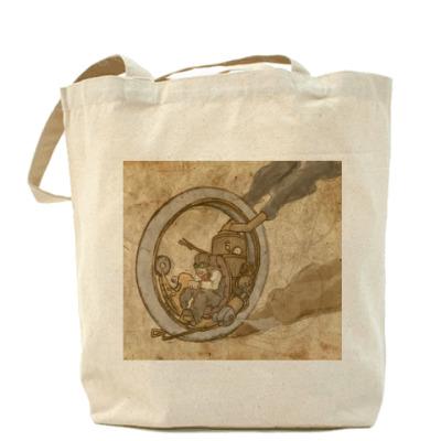 Сумка Холщовая сумка Паромоноцикл