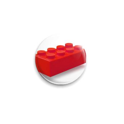 Значок 25мм : LEGO Brick