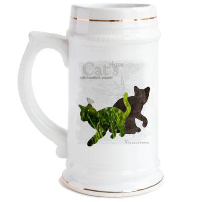 Пивная кружка Трава и кора