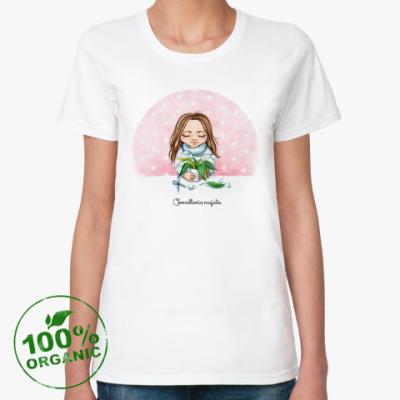Женская футболка из органик-хлопка Ландыш