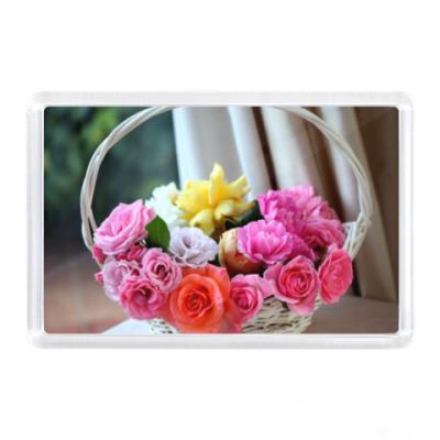 Магнит Корзина с цветами
