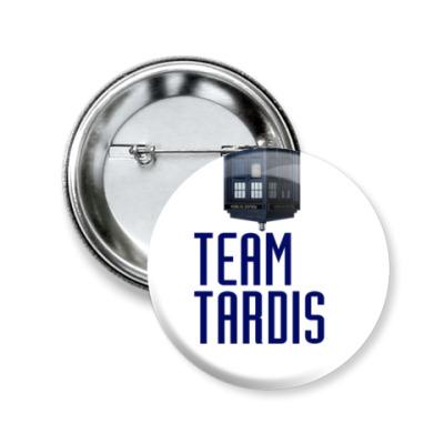 Значок 50мм Team Tardis