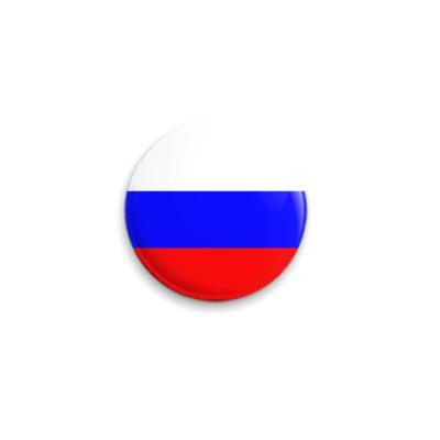 Значок 25мм  Флаг РФ
