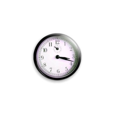 """Значок 25мм """"Time""""  25 мм"""