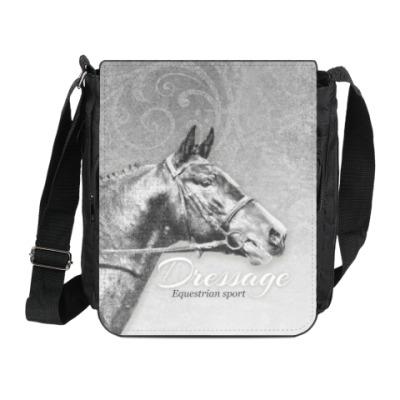 Сумка на плечо (мини-планшет) Конный спорт, лошади. Dressage