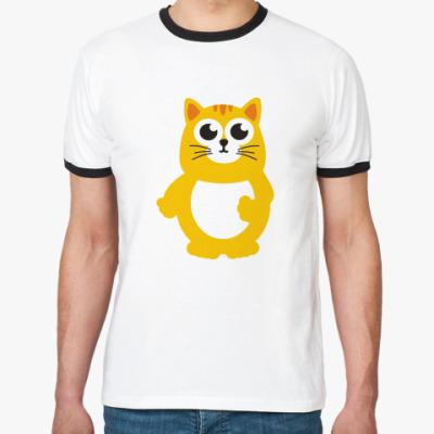Футболка Ringer-T Жирный кот