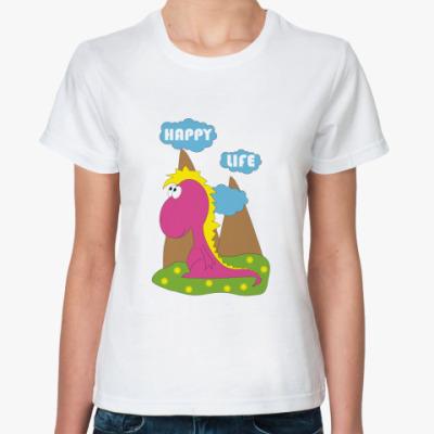 Классическая футболка Happy Life