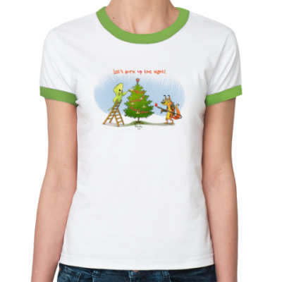 Женская футболка Ringer-T Nut & Cracker