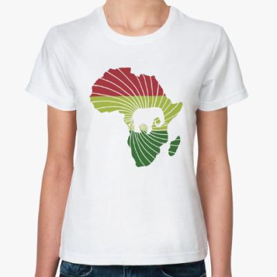 Классическая футболка Африканский слон
