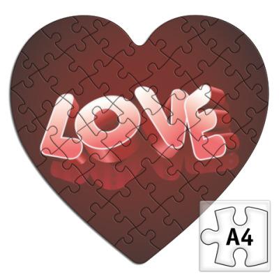 Пазл  для влюбленных сердце