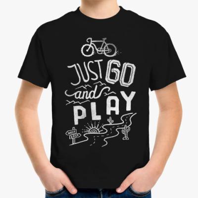 Детская футболка JUST GO and PLAY