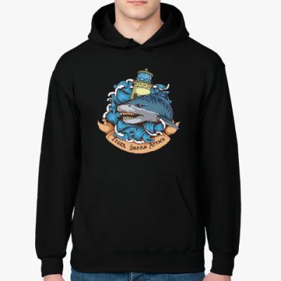 Толстовка худи Море. Акула.