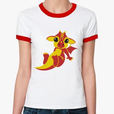 Женская футболка Ringer-T Дракончик