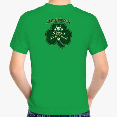 Детская футболка Fruit of the Loom (зеленая, dtg)