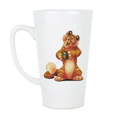 Чашка Латте Тигра и Кубик Рубика